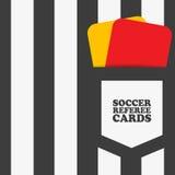 Árbitro del fútbol del fútbol Fotos de archivo libres de regalías