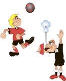 Árbitro del fútbol, historieta, vector Fotografía de archivo