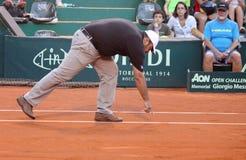 Árbitro del tenis Imagen de archivo libre de regalías