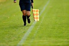 Árbitro do assistente do futebol Imagem de Stock Royalty Free