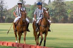 Árbitro do polo no competiam em Brasil   Fotografia de Stock