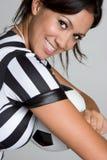 Árbitro sonriente fotografía de archivo libre de regalías