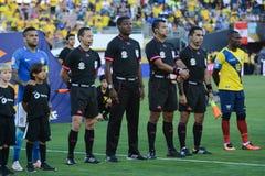 Árbitros del Fifa durante Copa América Centenario Imagen de archivo libre de regalías