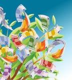 Árbol 01 del dinero Imagen de archivo libre de regalías