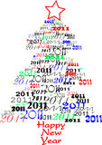 Árbol 2011 del Año Nuevo Imagen de archivo libre de regalías