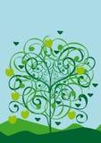 Árbol abstracto aislado vector Ilustración del Vector