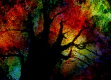 Árbol abstracto colorido