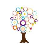 Árbol abstracto con los anillos Fotos de archivo libres de regalías