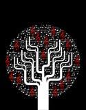 Árbol abstracto de la música ilustración del vector