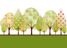 Árbol abstracto de la primavera Fotografía de archivo