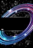 Árbol abstracto de la tecnología en fondo oscuro del vector Ilustración del Vector