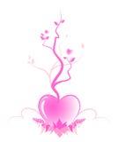 Árbol abstracto del amor ilustración del vector