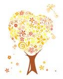 Árbol abstracto del otoño Imagen de archivo libre de regalías