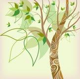 Árbol abstracto del otoño del fondo Fotografía de archivo libre de regalías