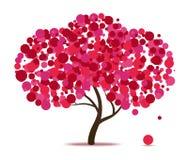 Árbol abstracto rosado ilustración del vector