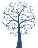 Árbol adornado azul stock de ilustración