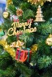 Árbol adornado de los cristmas Imagen de archivo libre de regalías