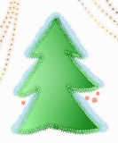 Árbol adornado de Navidad Foto de archivo