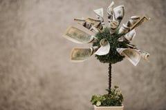Árbol artificial del dinero fotografía de archivo libre de regalías