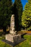 Árbol aterrorizado encima del sepulcro Imágenes de archivo libres de regalías