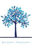 Árbol azul libre illustration