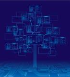 Árbol binario Imagen de archivo libre de regalías