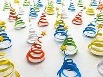Árbol-bobinador de cintas en modo continuo colorido de la Navidad en el hielo Fotografía de archivo