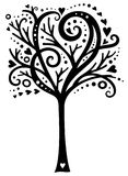 Árbol caprichoso del amor stock de ilustración