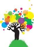 Árbol colorido. Fotos de archivo
