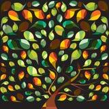 Árbol colorido Foto de archivo libre de regalías
