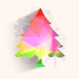 Árbol colorido de Navidad para la celebración de la Navidad Foto de archivo libre de regalías