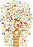 Árbol colorido decorativo Fotografía de archivo