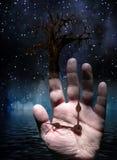 Árbol con la mano stock de ilustración