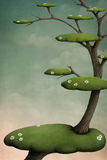 Árbol con las islas verdes Foto de archivo libre de regalías