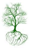 Árbol con las raíces del cerebro ilustración del vector