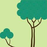 Árbol con los círculos verdes Imagenes de archivo