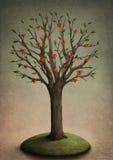 Árbol con los corazones Foto de archivo libre de regalías