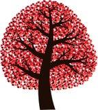 Árbol con los corazones fotos de archivo libres de regalías