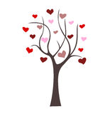 Árbol con los corazones Libre Illustration