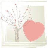Árbol con los corazones. Concepto de la tarjeta del día de San Valentín. Fotografía de archivo libre de regalías