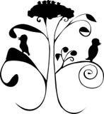Árbol con los pájaros Imagen de archivo