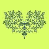 Árbol, corazón floreciente Foto de archivo