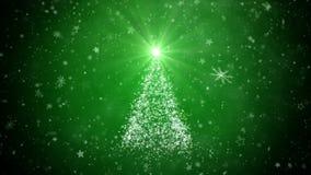 Árbol creciente del Año Nuevo, fondo del invierno ilustración del vector