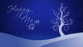 Árbol creciente 4K del blanco puro de la Feliz Año Nuevo libre illustration