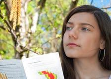 Árbol de abedul de la mujer de la alergia Fotos de archivo libres de regalías