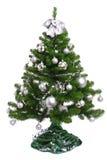 Árbol de abeto adornado de la Navidad Fotografía de archivo