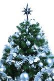 Árbol de abeto adornado de la Navidad Fotografía de archivo libre de regalías