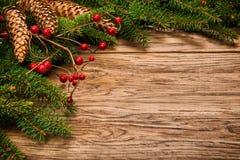 Árbol de abeto adornado de la Navidad Fotos de archivo libres de regalías