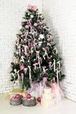 Árbol de abeto agradable de la Navidad Foto de archivo