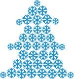 Árbol de abeto construido de copos de nieve libre illustration